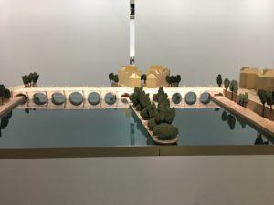 maquette Pont Neuf empaqueté