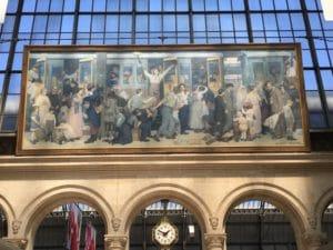 Le Départ des Poilus, le tableau de la Gare de l'Est